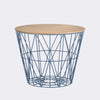 Wire basket - medium deksel - bleke eik