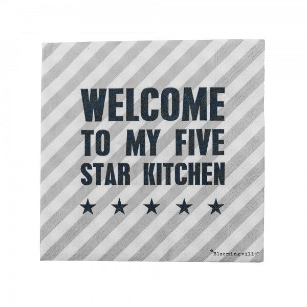 Servetten Welcome to My Five Star Kitchen