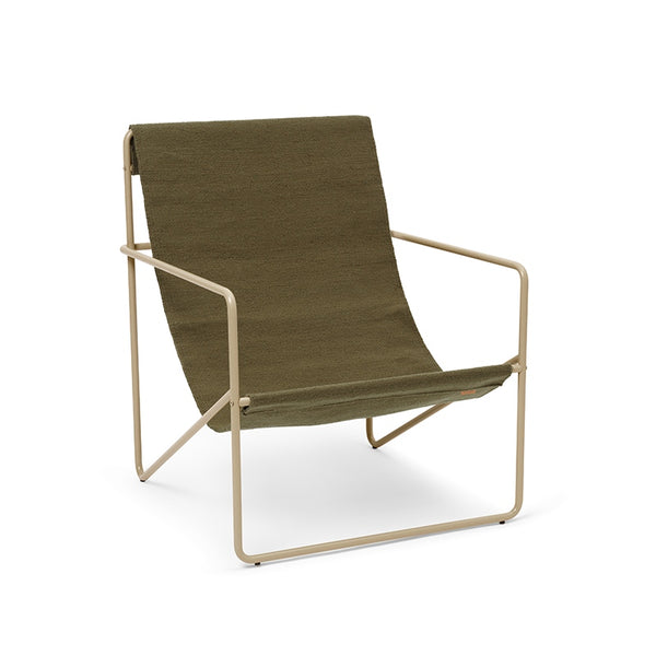 Ferm LIVING - Desert Lounge Chair Cashmere/Olive