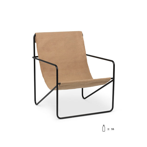 Desert Lounge Chair Black/Solid Cashmere