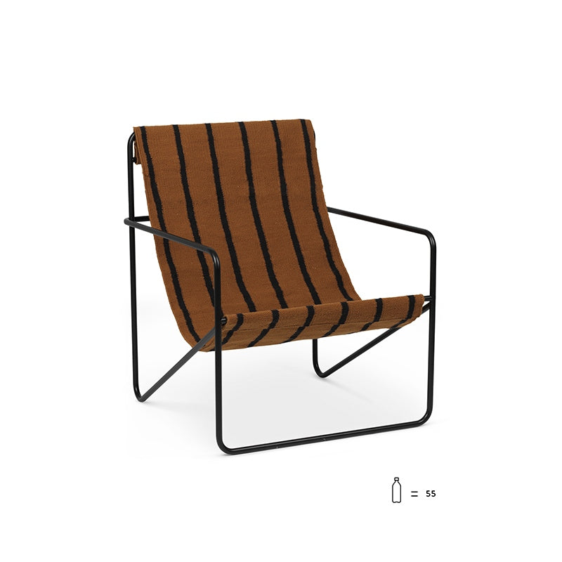 Desert Lounge Chair Black/Stripes