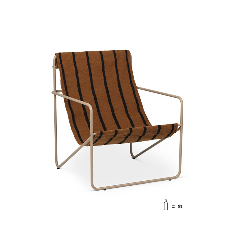 Desert Lounge Chair Cashmere/Stripes