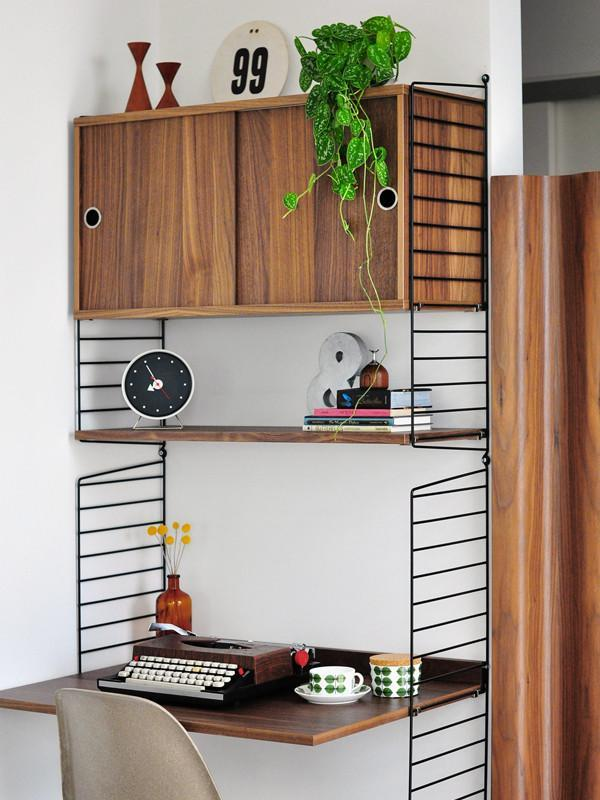 String Home Office - walnoot zwart