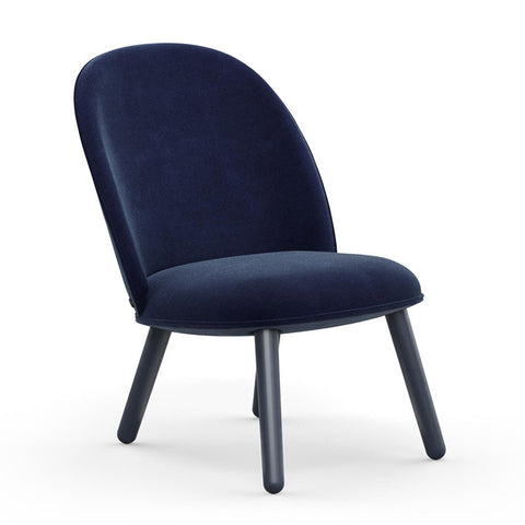 Ace Lounge Chair Velour dark blue