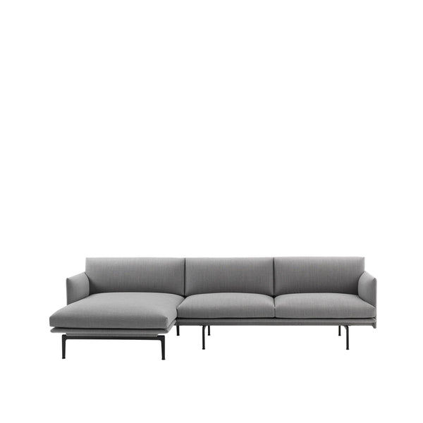 Outline zetel met chaise longue