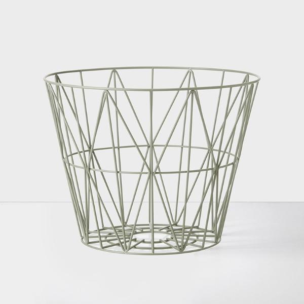 Wire basket mand small - groen