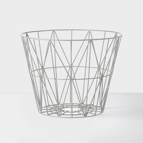 Wire basket mand small - grijs