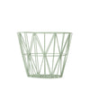 Wire basket - small mint