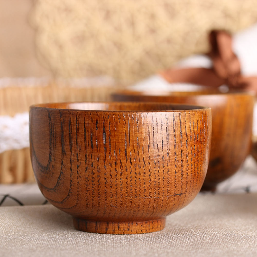 Natural Round Wood Bowls