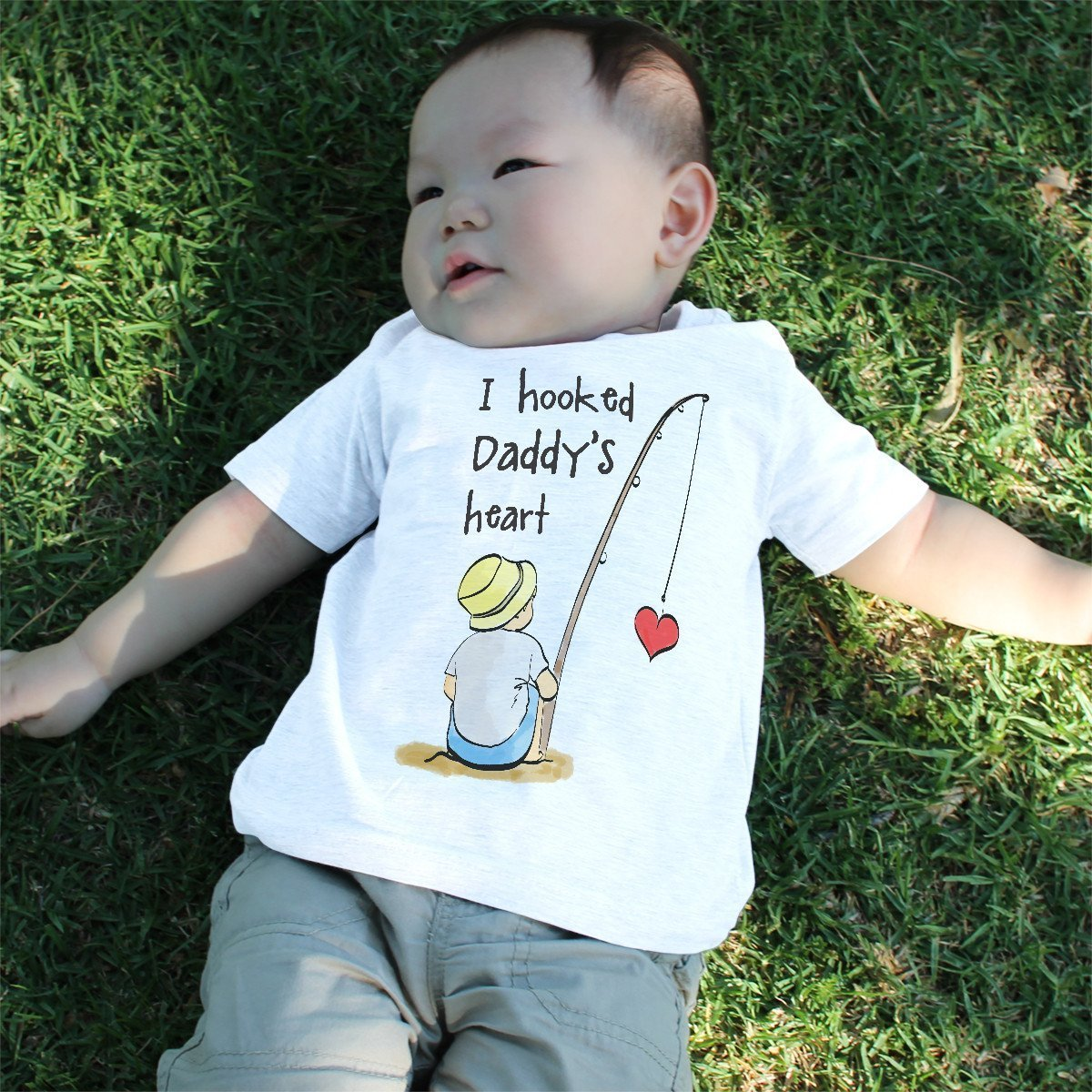 I Hooked Daddy's Heart Baby Shirt