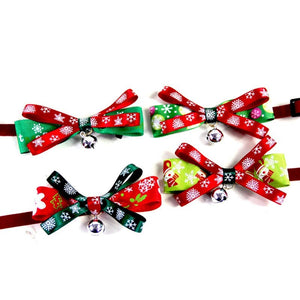 Christmas Bow Dog Collar