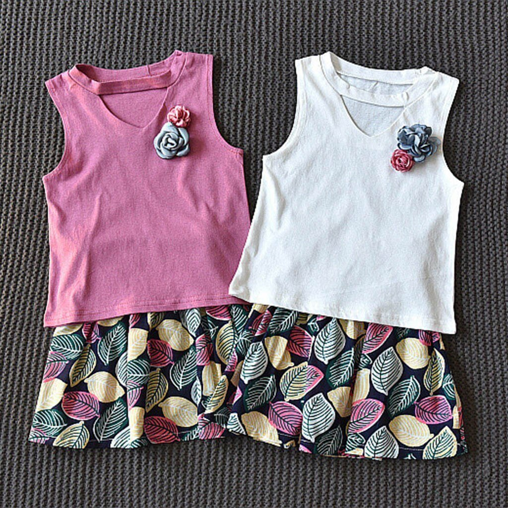Kids Clothes Active Toddler Baby Girls Sleeveless