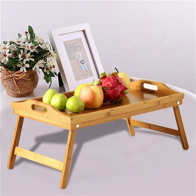 Bamboo Tray With Foot Tray