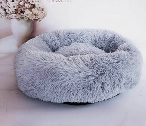 Fluffy Plush Pet Dog Cat Calming Bed Warm Soft Plush Round Cute Puppy Pet Cat Dog Nest Sleeping Bed