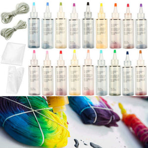 With Gloves Accessories One Step Permanent Paint Craft Tie Dye Kit Textile Making Non Toxic Party Supplies Colorful Fabric Art