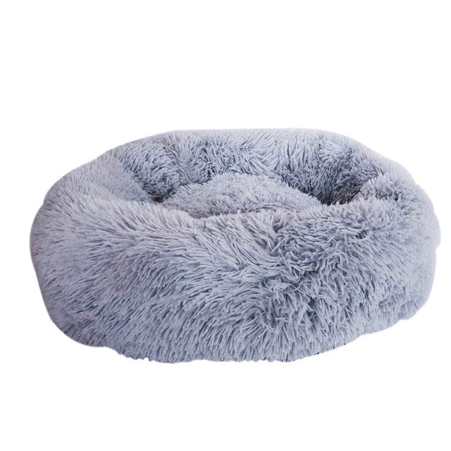 Plush Pet Bed Dog Cat Calming Bed Round Nest Warm Soft Plush Sleeping Bed Pets Winter Indoor Kennel Durable Comfortable Pet Bed