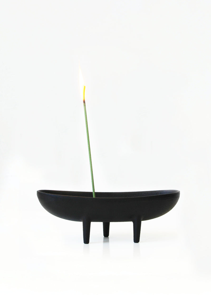Sculptural Cast Iron Incense Burner