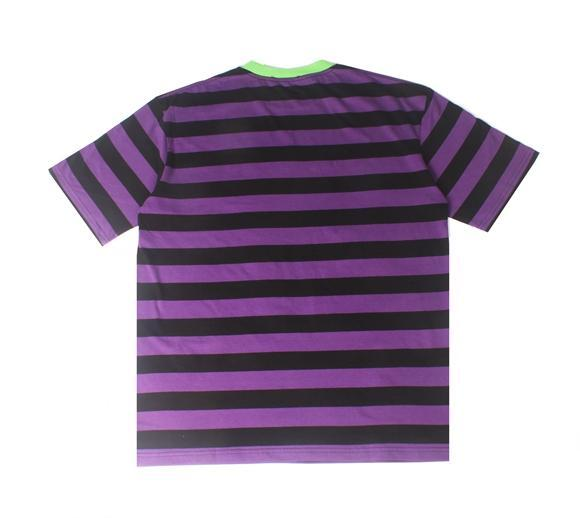 BROTHERHOOD STRIPE TEE - PURPLE