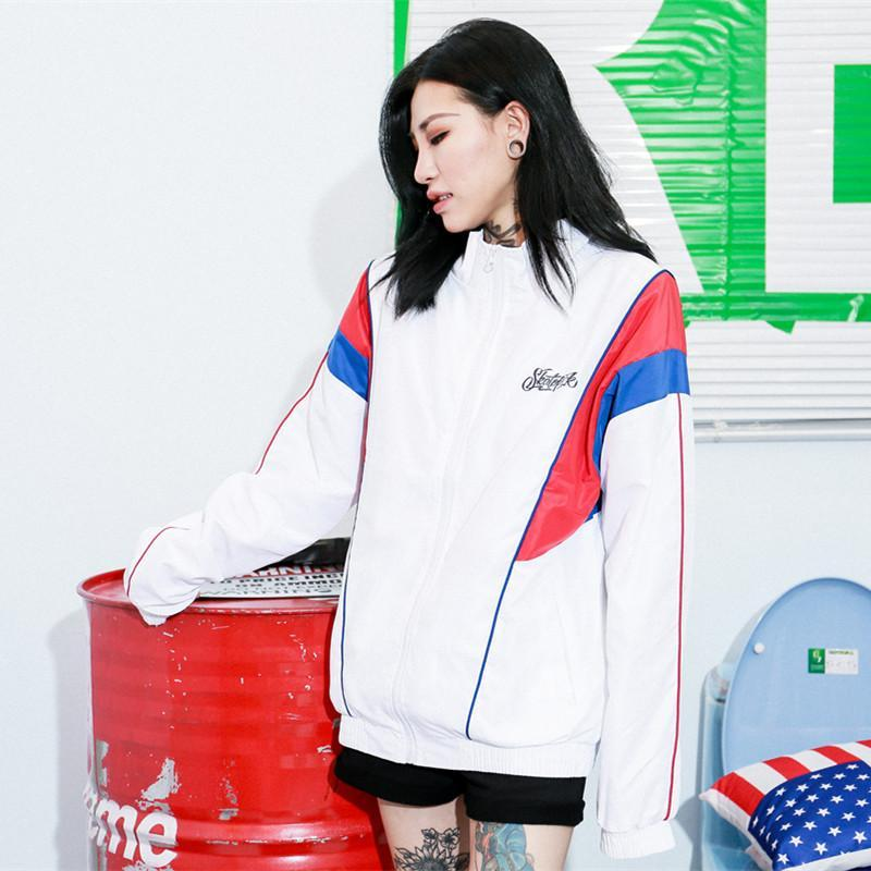 CONTRAST WINDBREAKER JACKET