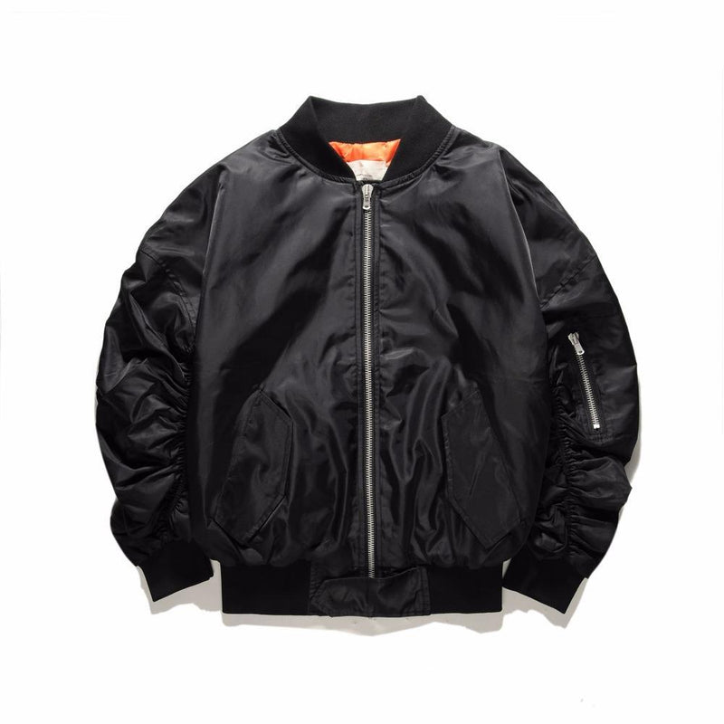 ESSENTIAL BOMBER JACKET - BLACK STREETFASHION