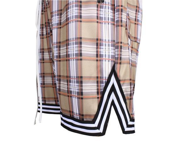 SPORTS PLAID SHORTS - KHAKI