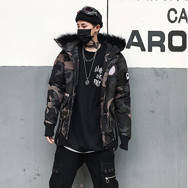 WARRIOR COAT - CAMO STREETFASHION