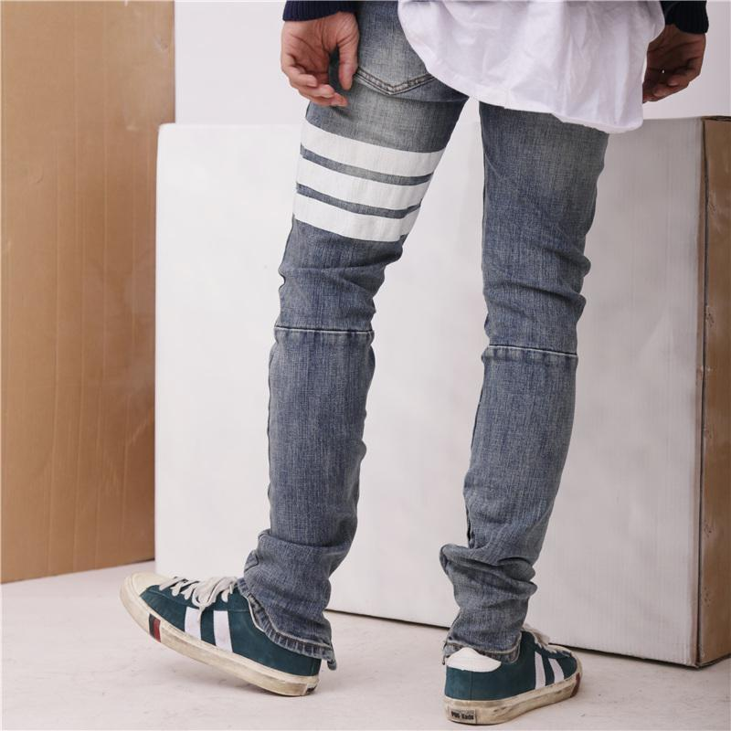 TIGH STRIPED DENIM