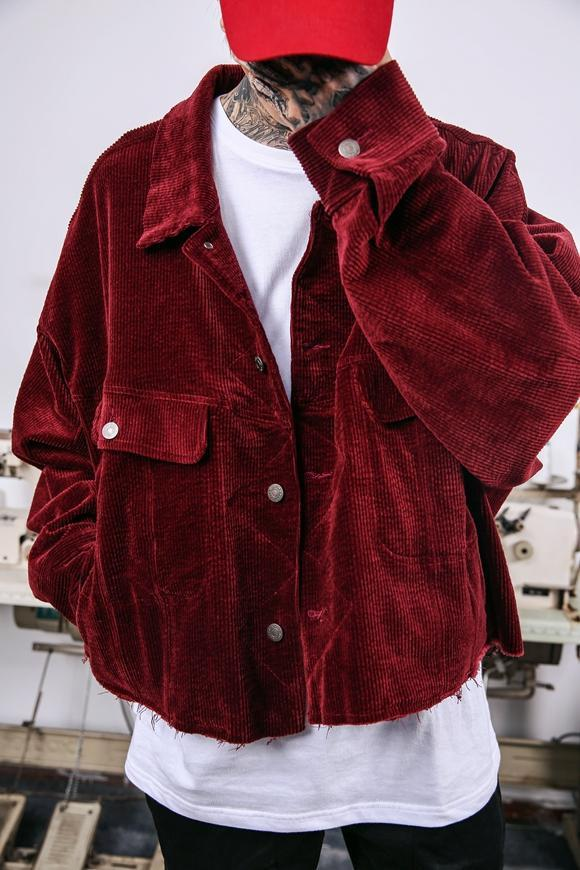 CORDUROY JACKET - WINE