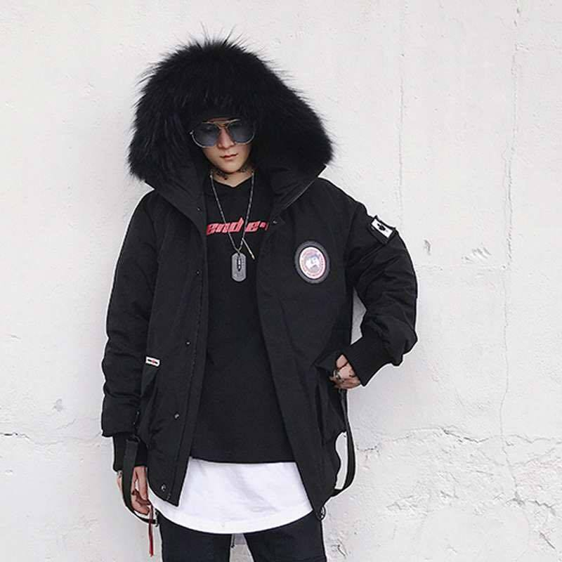 WARRIOR COAT - BLACK STREETFASHION
