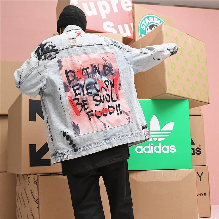 X ART DENIM JACKET