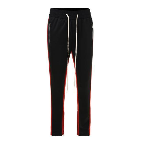 RETRO PANTS V2 - BLACK / RED