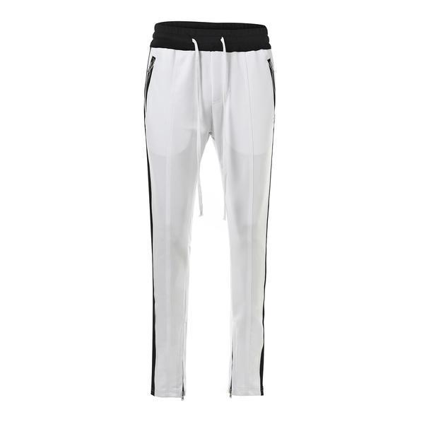 RETRO PANTS - WHITE / BLACK