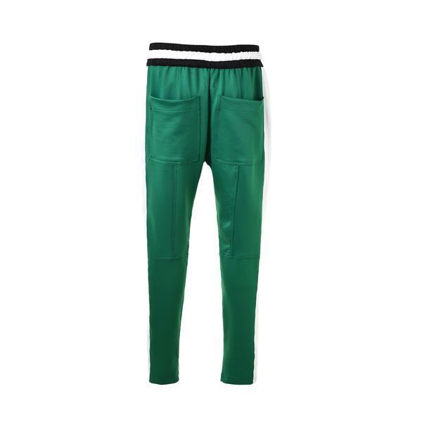 RETRO PANTS V2 - GREEN / WHITE