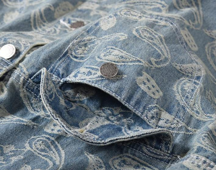 FLOWER JACQUARD DENIM JACKET
