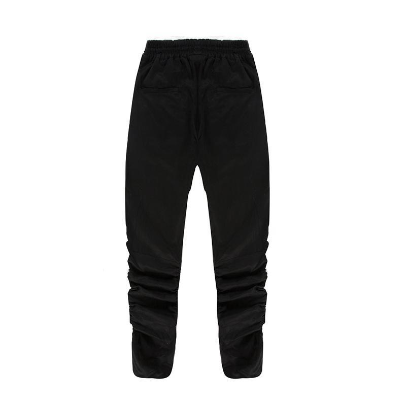 PIN TUCK INNER ZIPPED PANTS - BLACK BACK