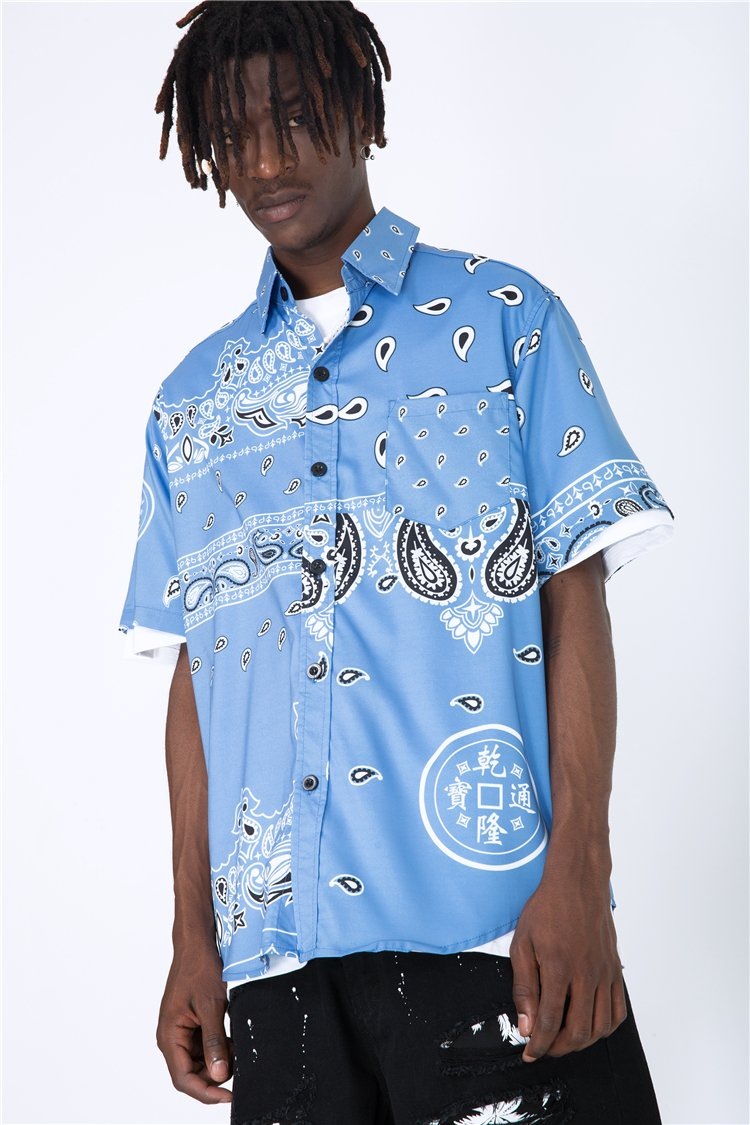 BANDANA SHIRT - SKY BLUE