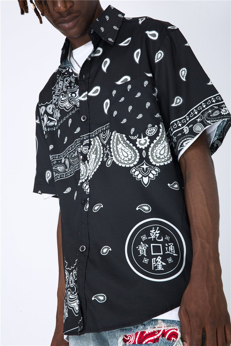BANDANA SHIRT - BLACK