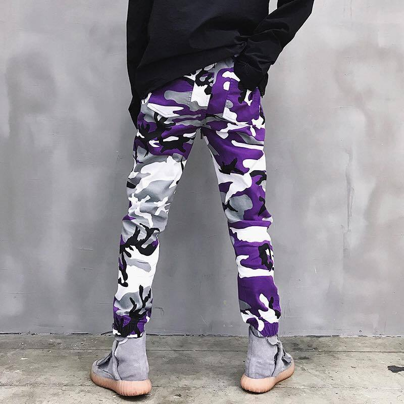 ESSENTIAL CAMO PANTS - PURPLE