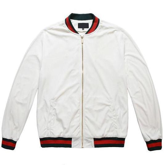 BASEBALL JACKET - WHITE