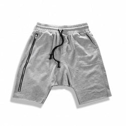 SIDE ZIP SHORTS - GREY