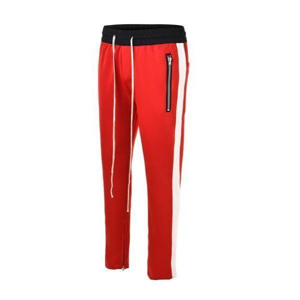 RETRO PANTS - RED with white stripes