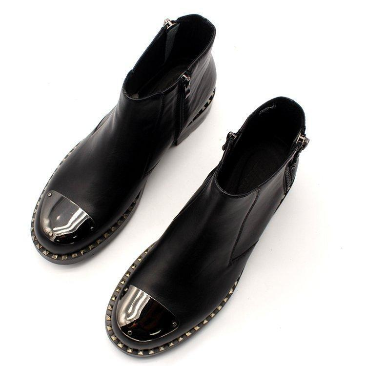 DOUBLE ZIPPER SCALP BOOTS