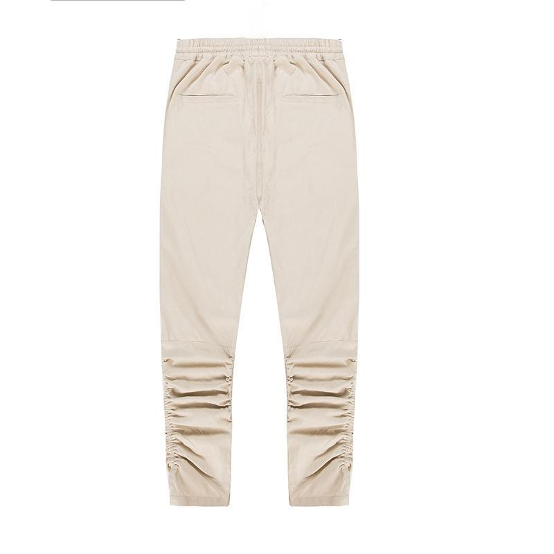 PIN TUCK INNER ZIPPED PANTS - KHAKI BACK