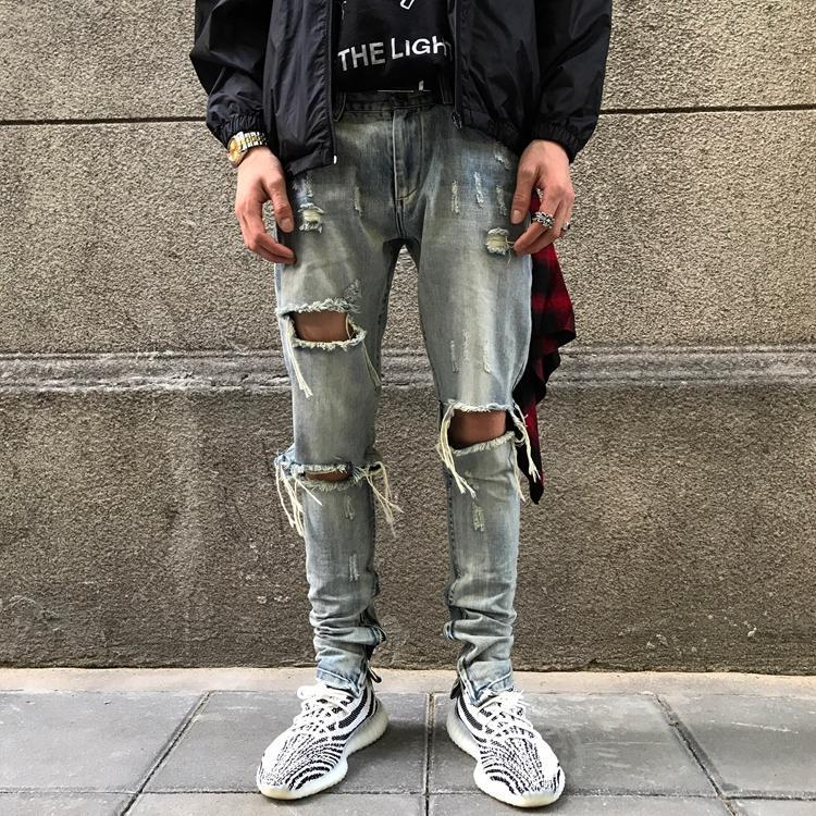 Distressed JC Denim
