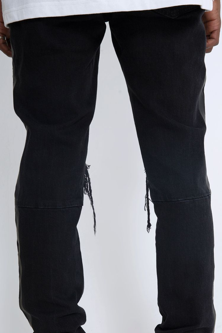 RETRO DISTRESSED DENIM V2 - BLACK / WHITE