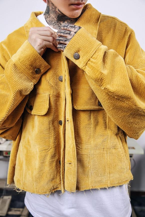 CORDUROY JACKET -  LEMON YELLOW