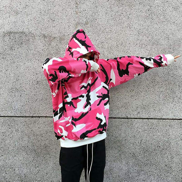 ESSENTIAL CAMO HOODIE - PINK