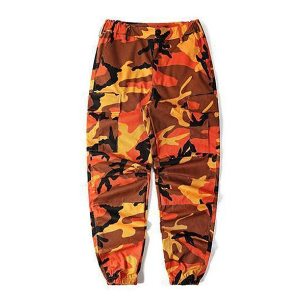ESSENTIAL CAMO PANTS - ORANGE