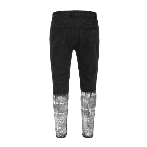 SPLATTER DENIM - BLACK