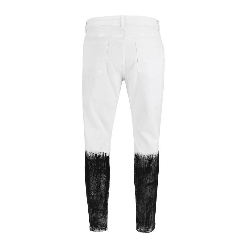 SPLATTER DENIM - WHITE